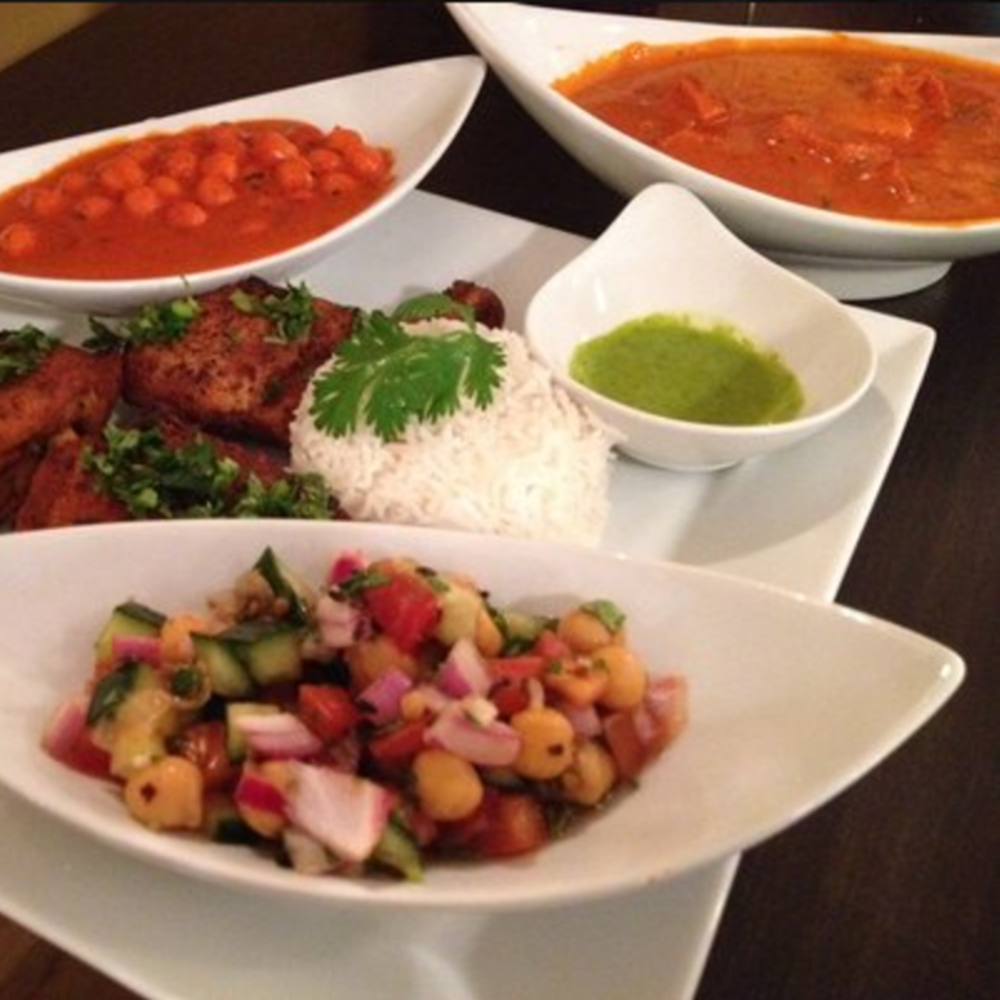 Chickpeas & Spices Galore at Cilantro Cilantro Indian Cafe