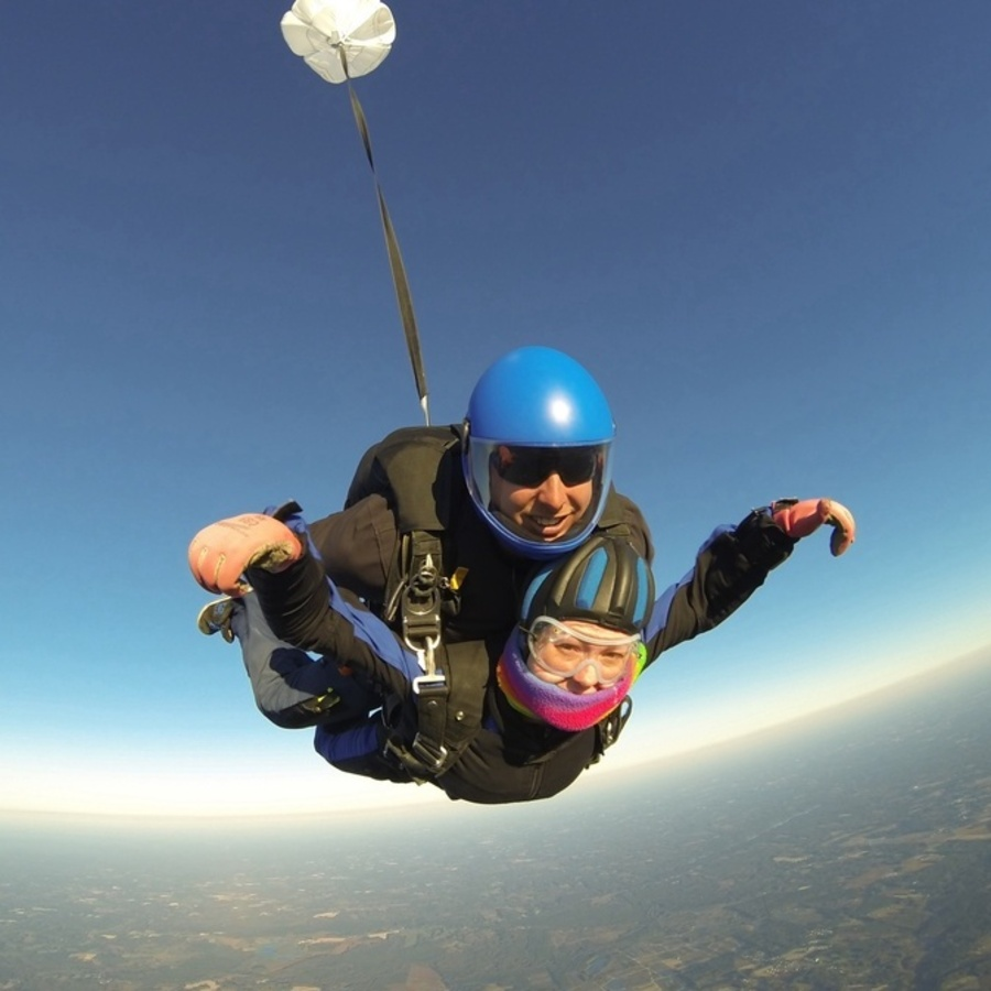 Laura Reinke's photo of Jump Out of a Plane at Triangle Skydiving Center