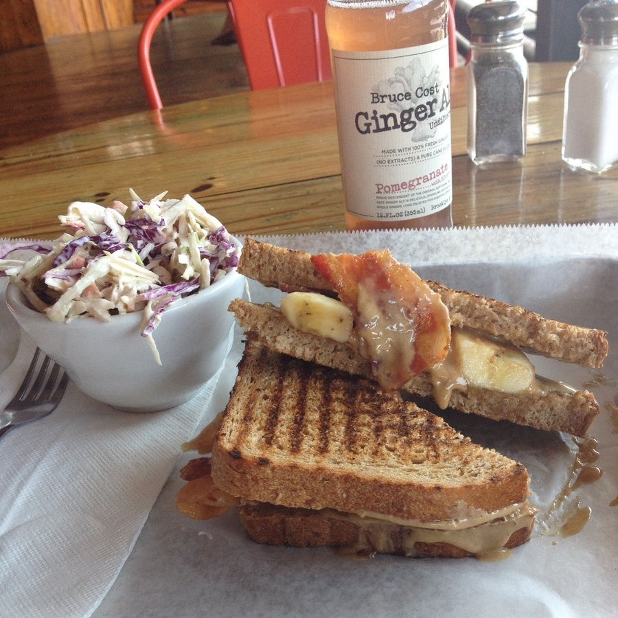 Lauren Merewether's photo of Elvis's Peanut Butter, Bacon, and Banana Sandwich