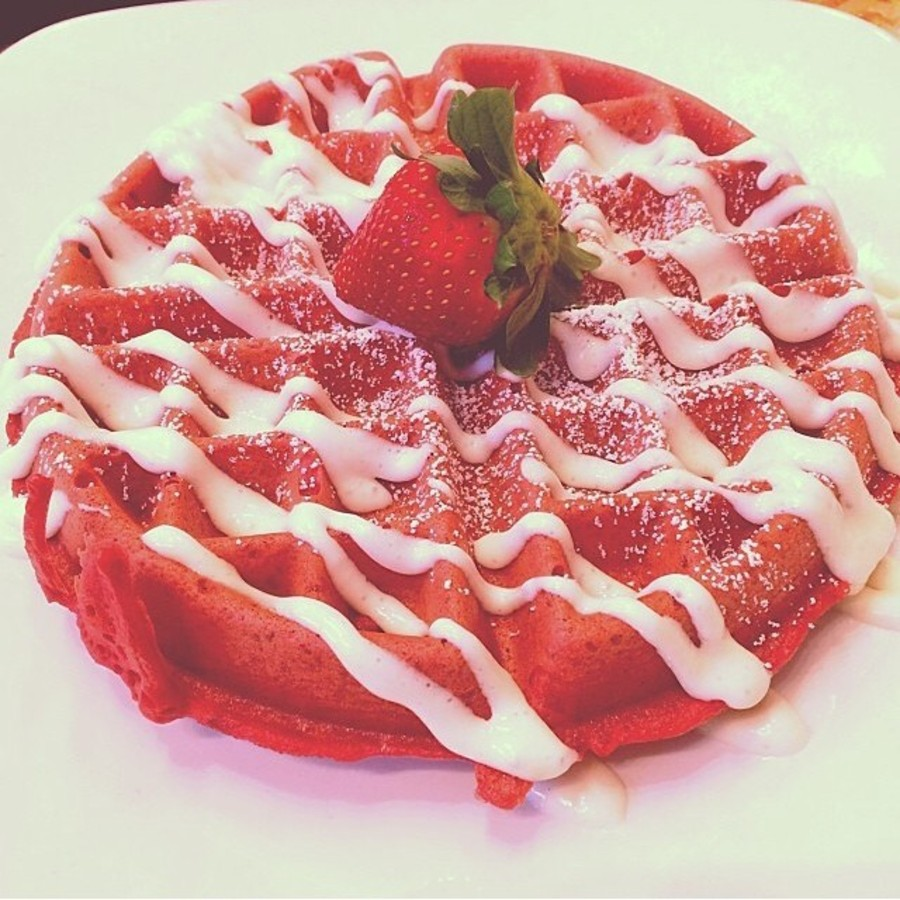 Fill the Void in Your Heart with Terrace's Red Velvet Waffle at Terrace Cafe