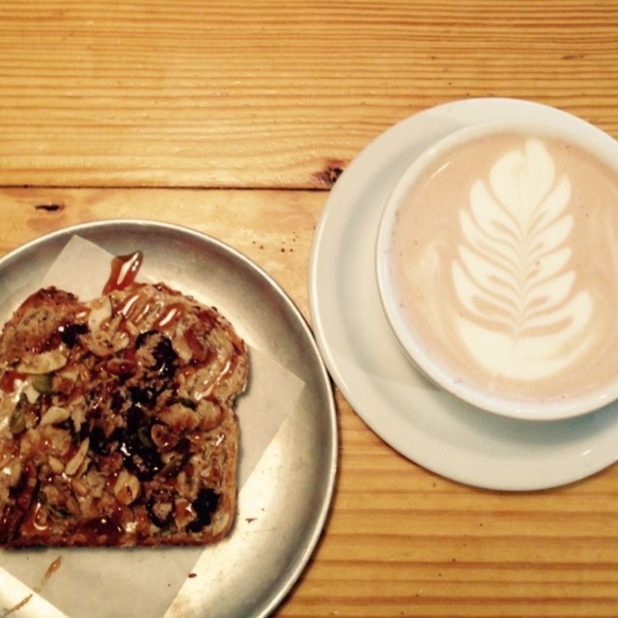Sarah Faucette's photo of Grab a Slice From Sola's Toast Bar