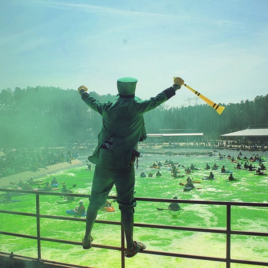 Go Green at USNWC this St. Patty's Day  at U.S. National Whitewater Center