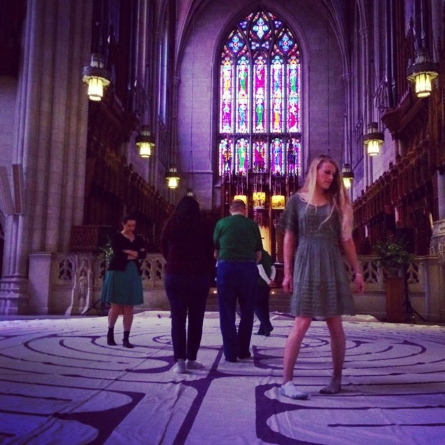 Stephanie Shaner's photo of Wind Your Way Through The Labyrinth at Duke Chapel